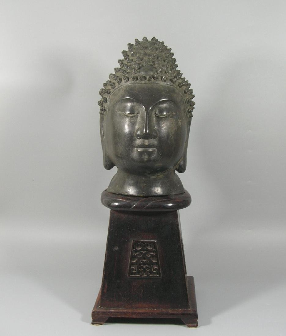 Unusual Ming Dynasty Bronze Buddha Head