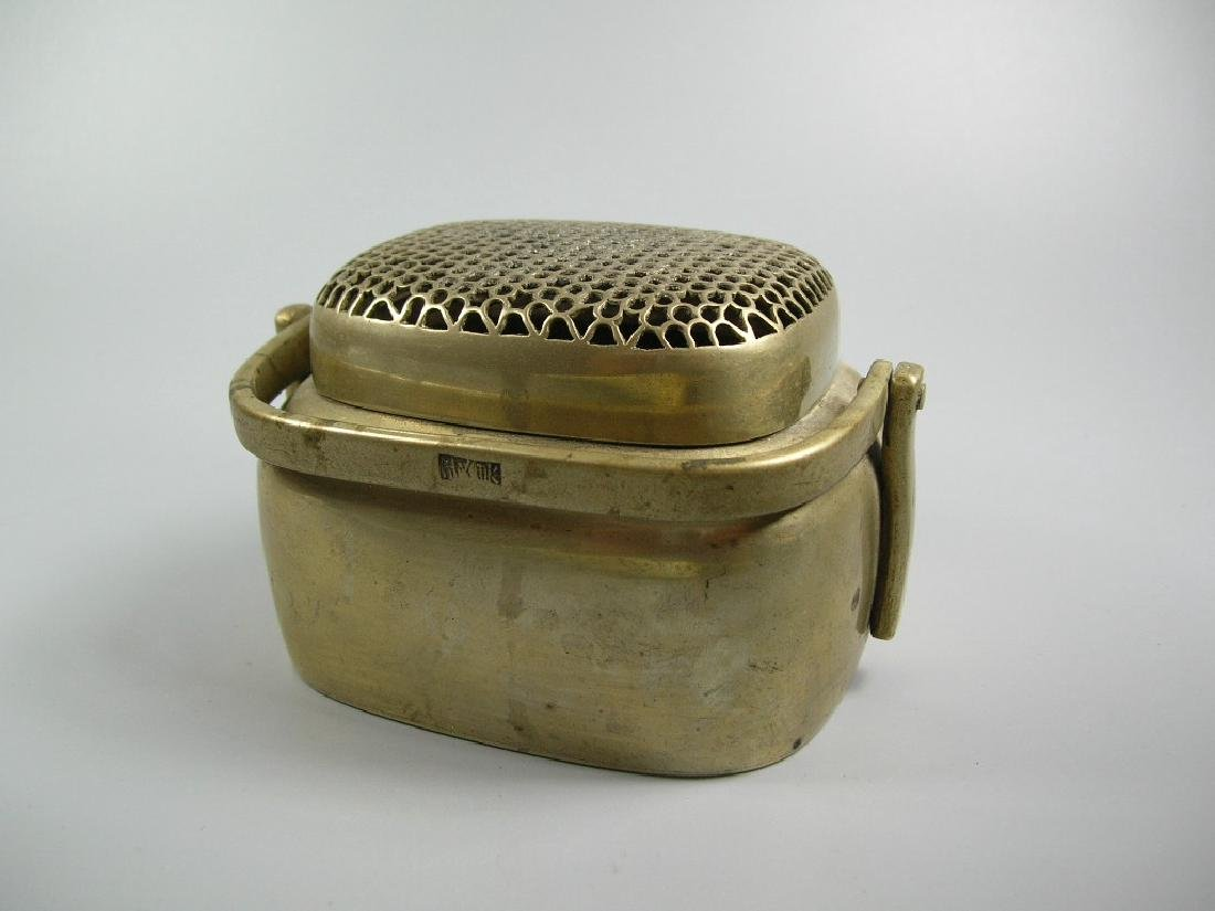 Antique Small Chinese Baitong Hand Warmer