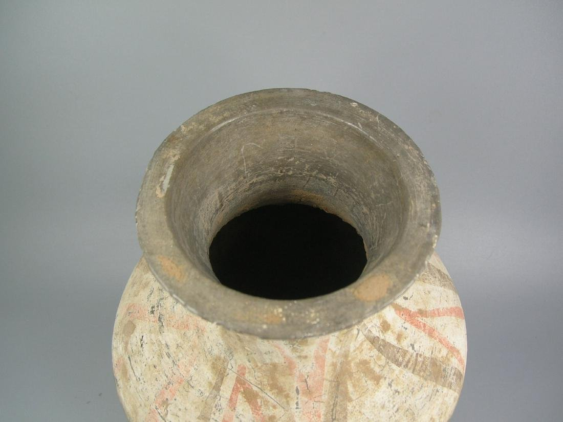 Small Painted Grey Pottery Vase Han Dynasty - 3