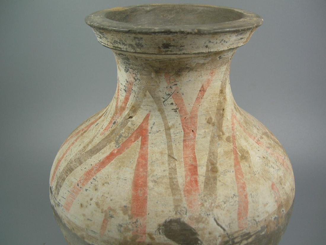 Small Painted Grey Pottery Vase Han Dynasty - 5