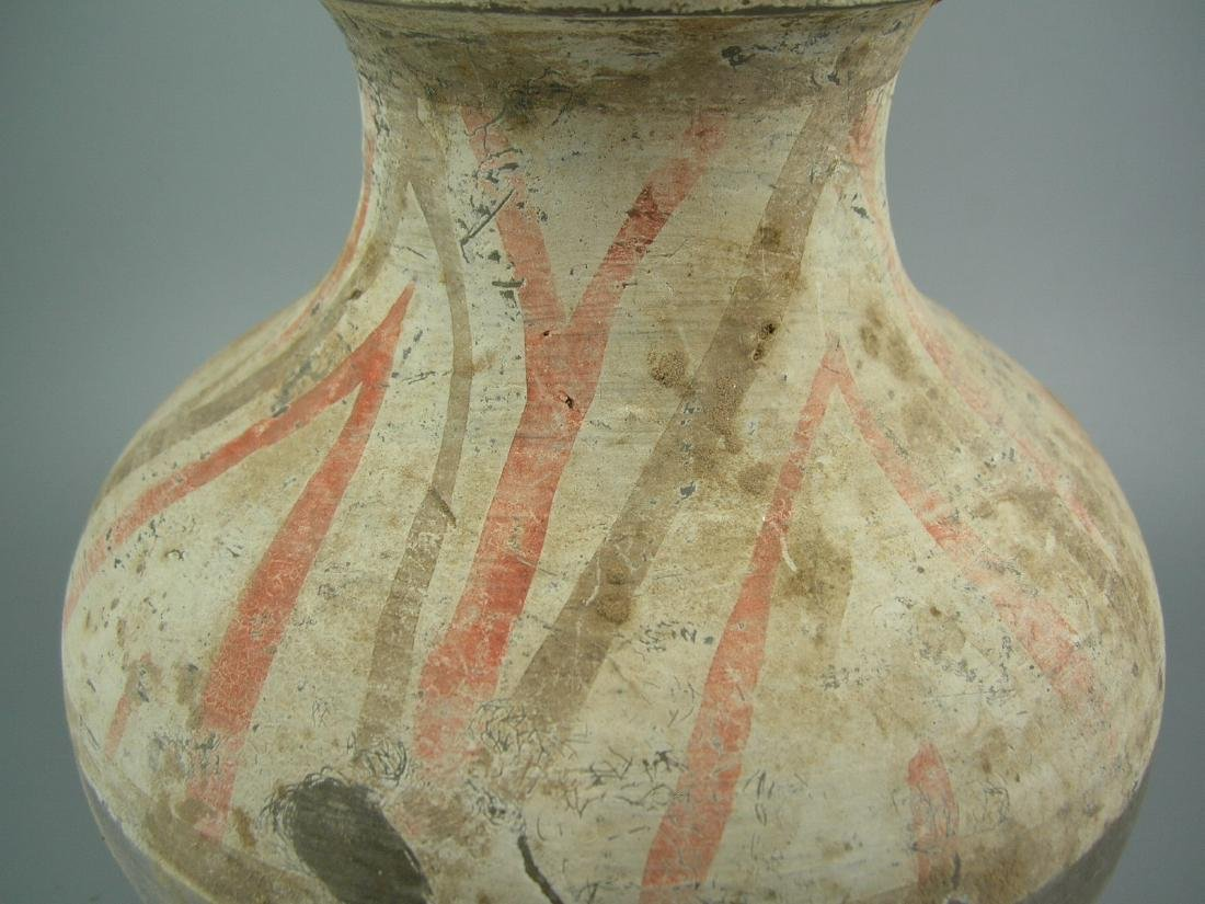 Small Painted Grey Pottery Vase Han Dynasty - 8