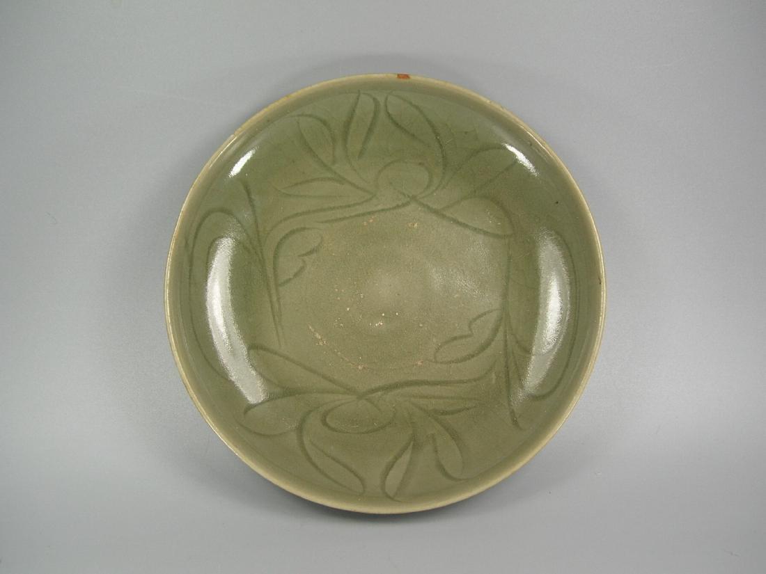 Small Longquan Ware Celadon Dish Yuan Dynasty