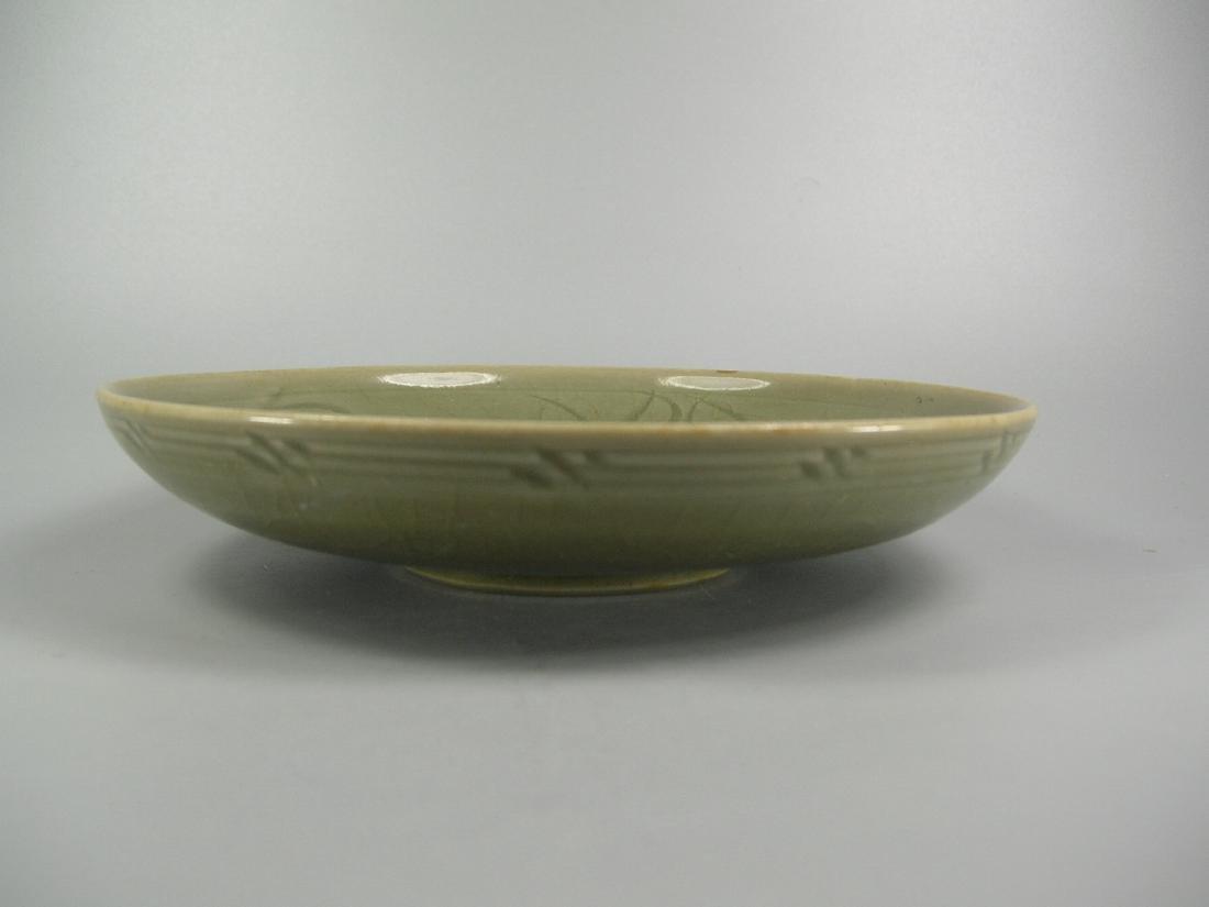Small Longquan Ware Celadon Dish Yuan Dynasty - 4