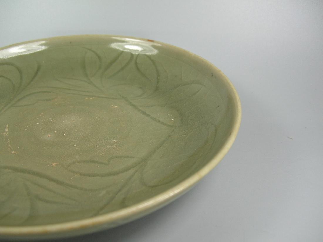 Small Longquan Ware Celadon Dish Yuan Dynasty - 5