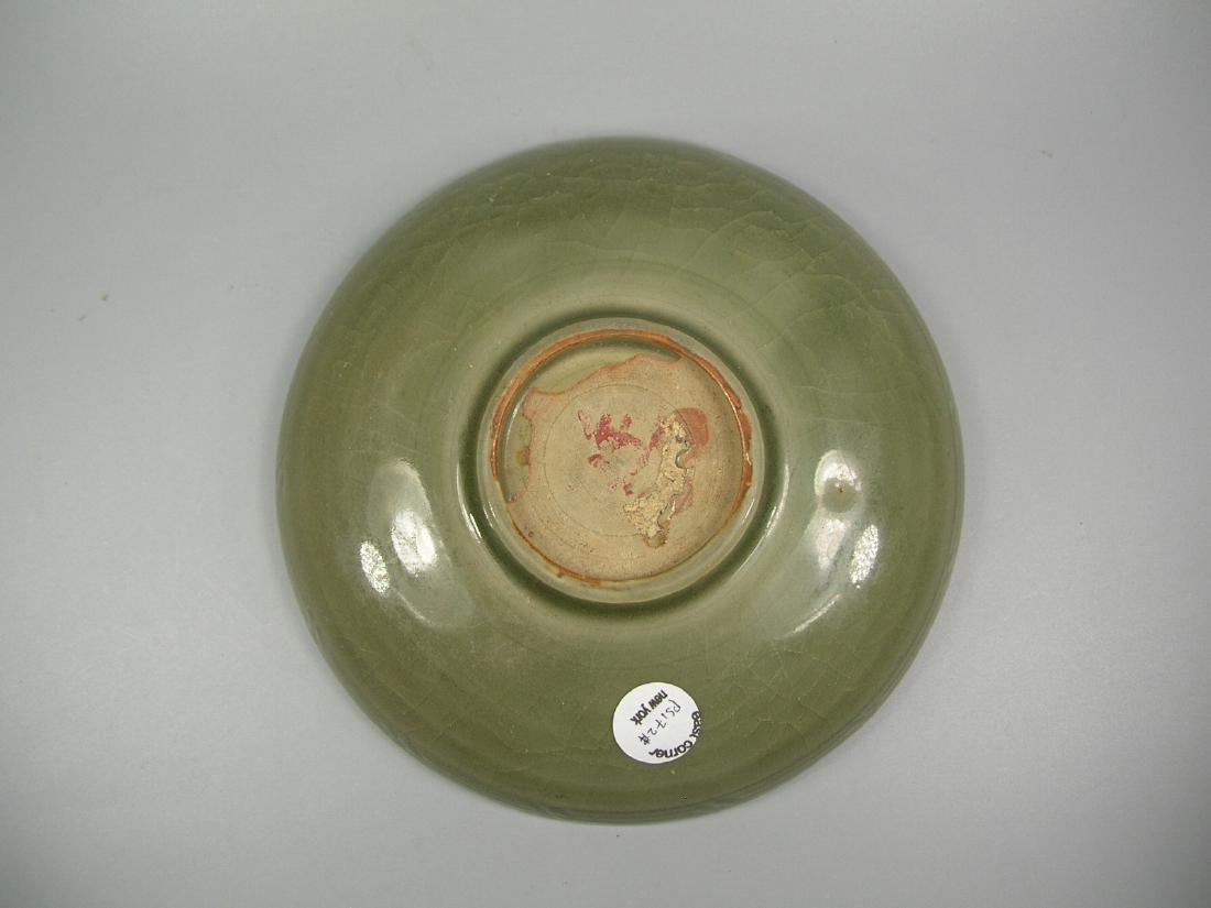 Small Longquan Ware Celadon Dish Yuan Dynasty - 6