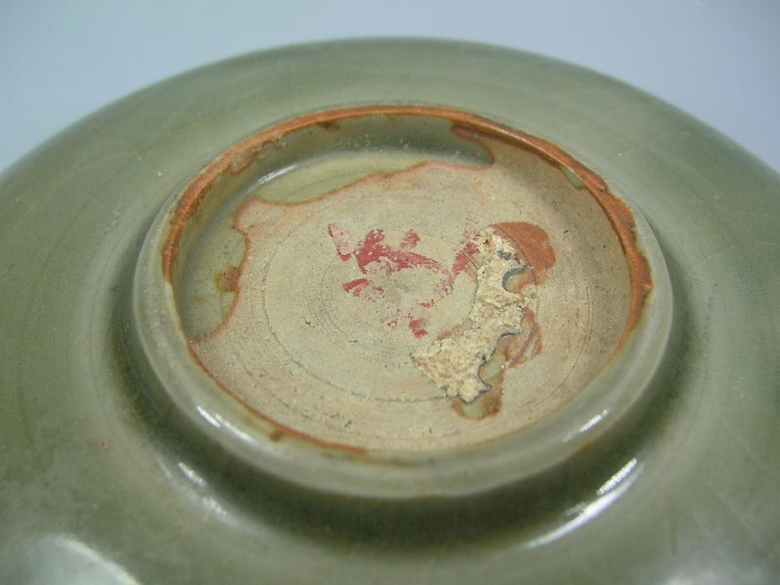 Small Longquan Ware Celadon Dish Yuan Dynasty - 7