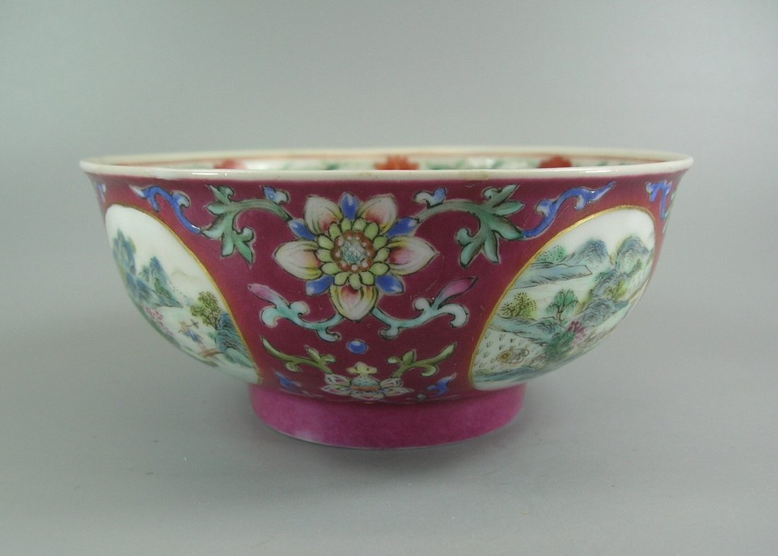 Daoguang Imperial Famille Rose Ruby-Ground Bowl - 3