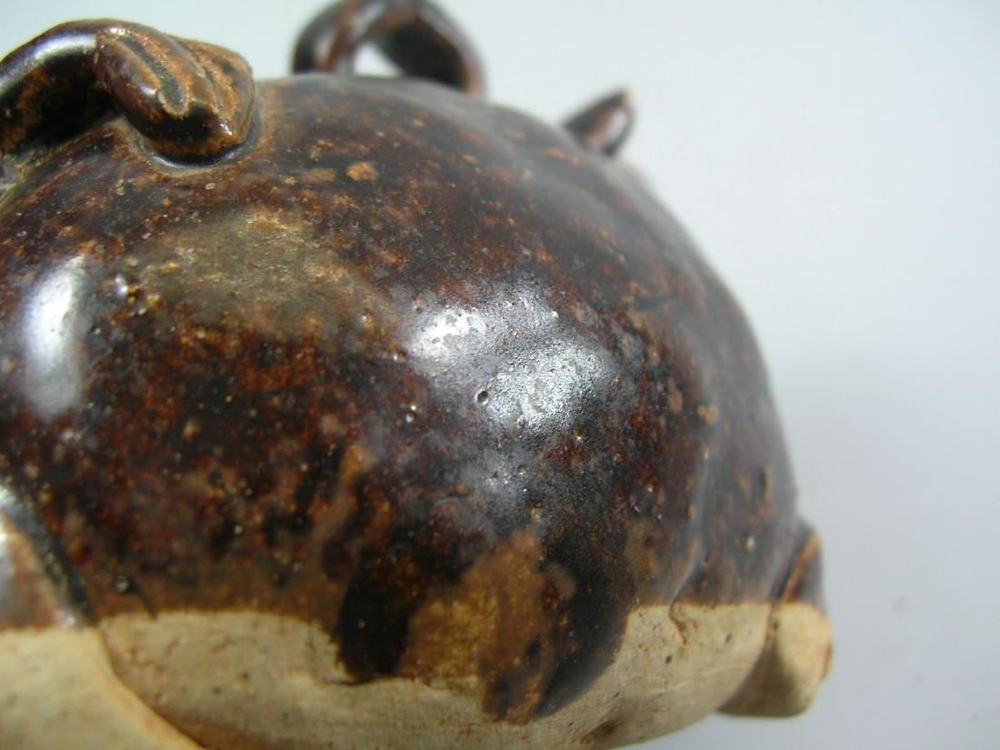 Antique Brown Glazed 'Animal' Water Dropper - 7
