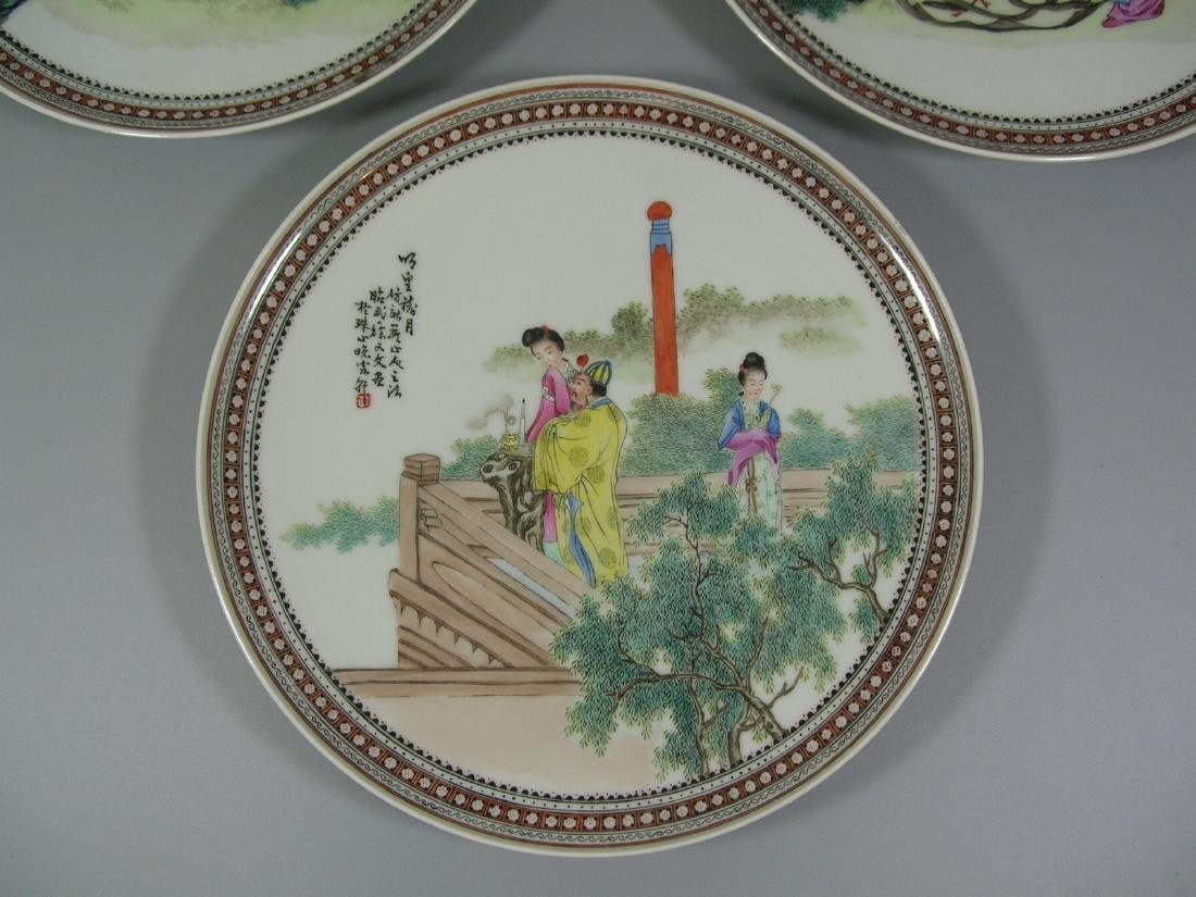 Set of Three Vintage Hand-Painted Porcelain Dishes - 2