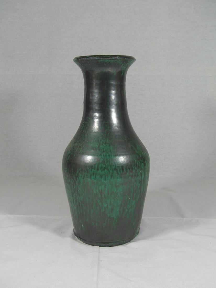 Tall Green Glazed Pottery Vase Han Dynasty