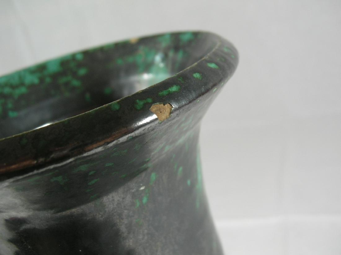 Tall Green Glazed Pottery Vase Han Dynasty - 7