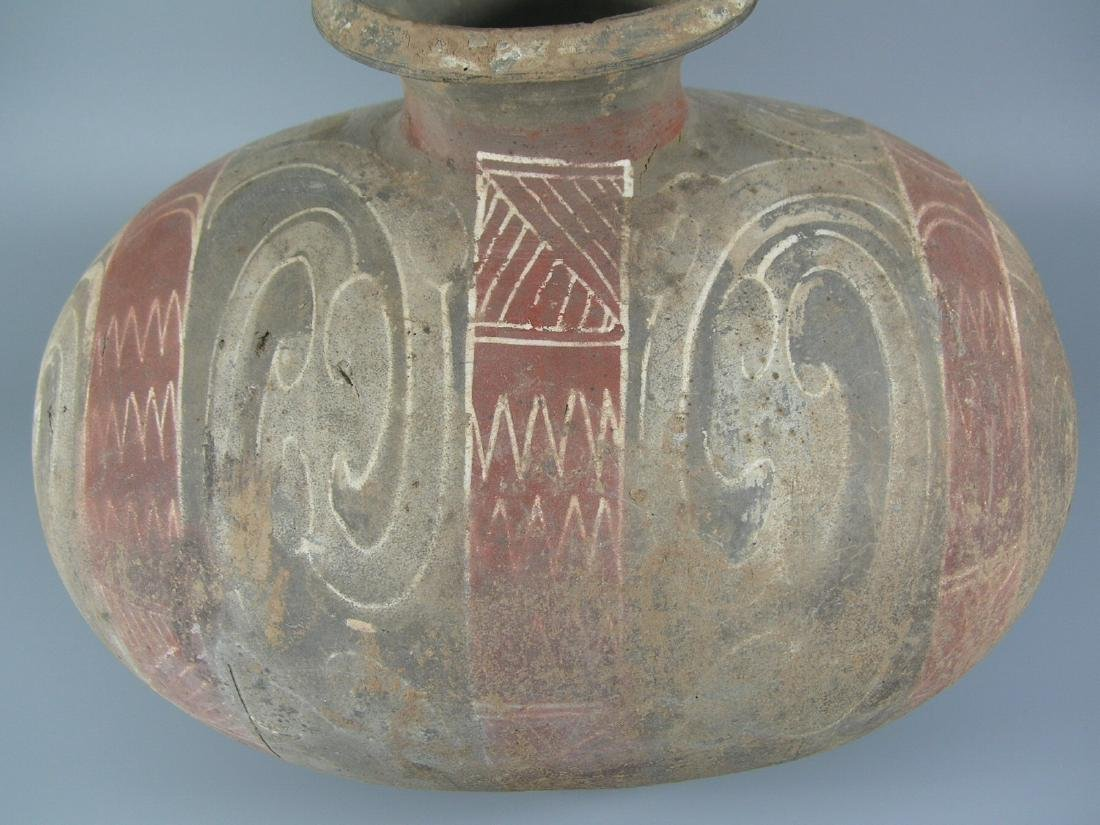 Han Dynasty Painted Pottery Coconut Vase - 2