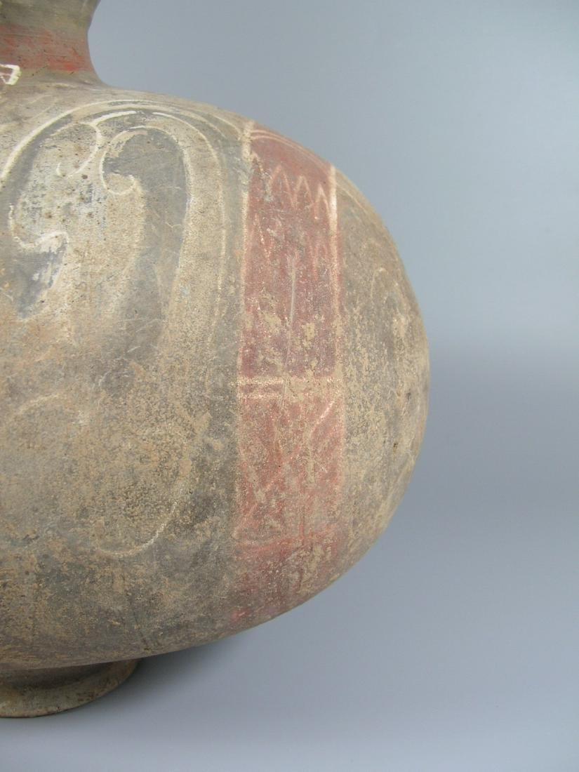 Han Dynasty Painted Pottery Coconut Vase - 4