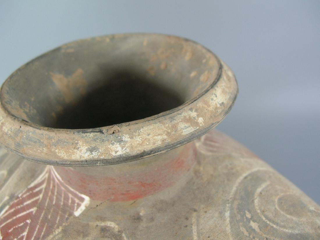 Han Dynasty Painted Pottery Coconut Vase - 7