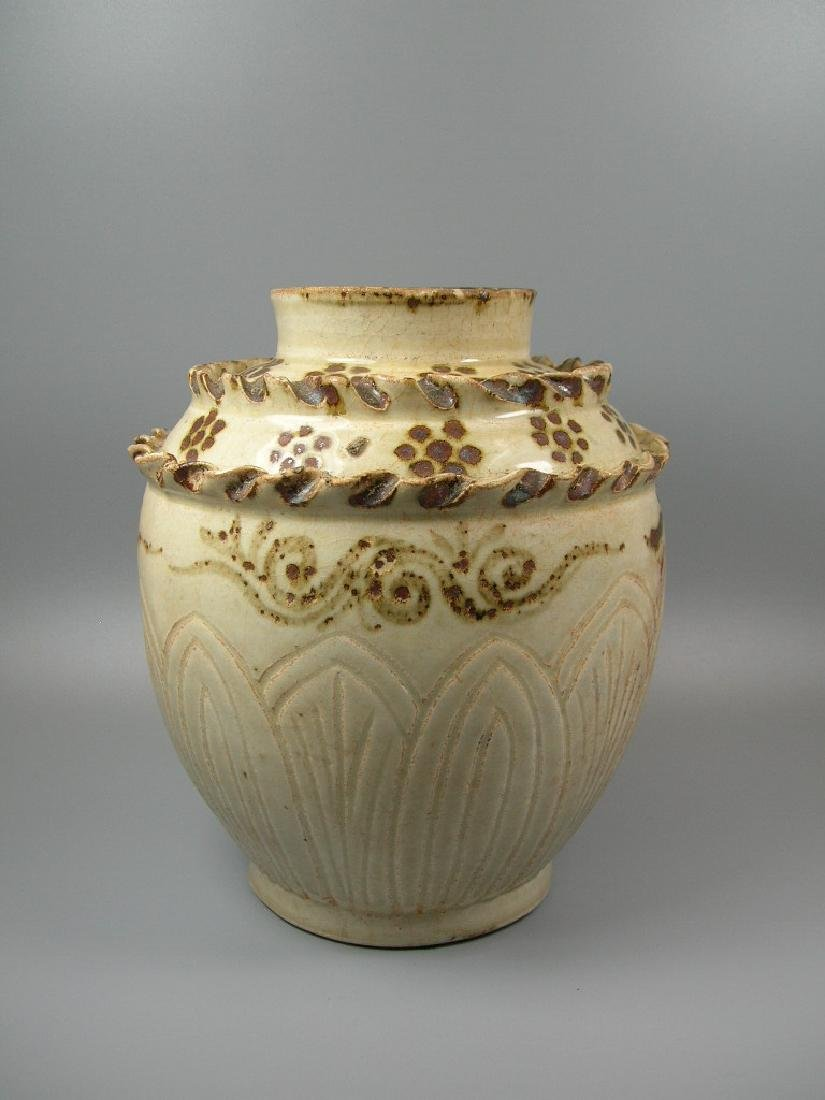 Rare Cizhou-Type Jar Song Dynasty