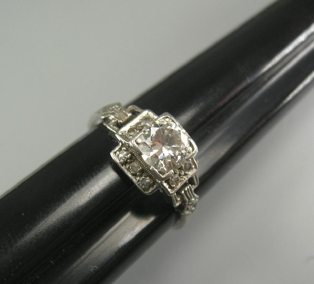 Platinum Diamond Ring - 7
