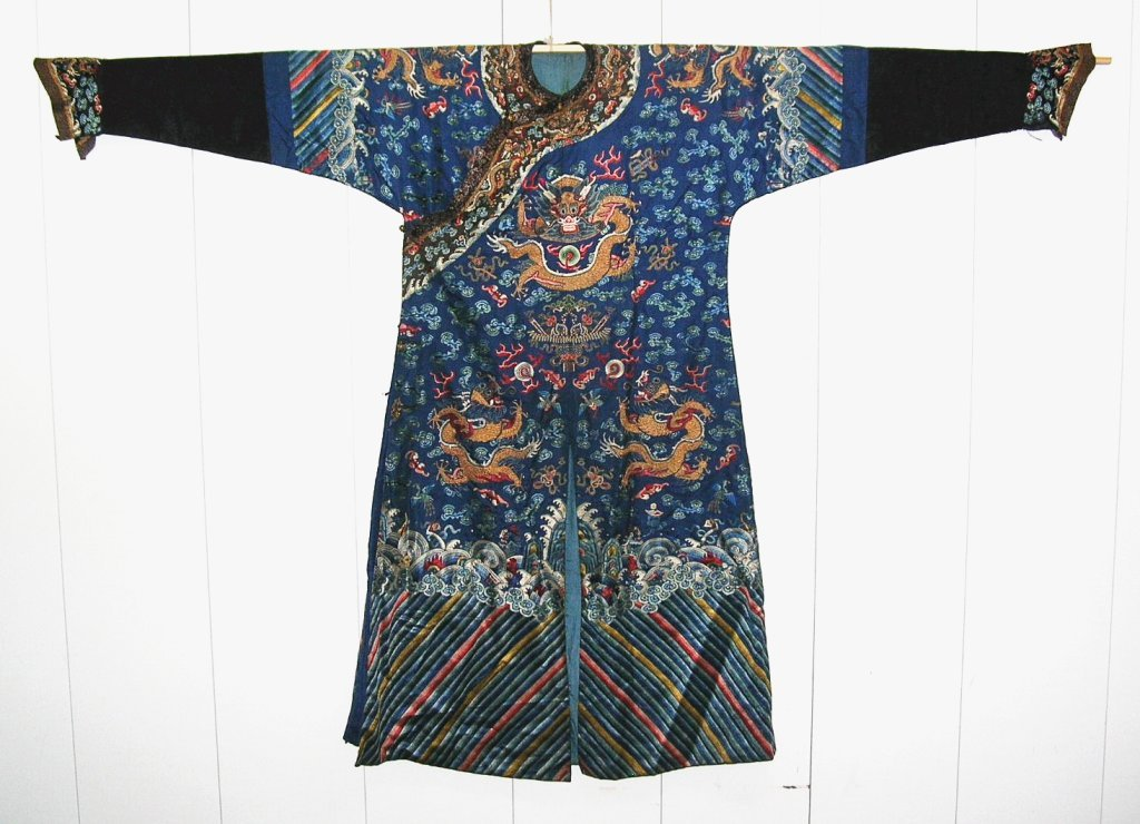 Unusual Antique Chinese Imperial Dragon Robe