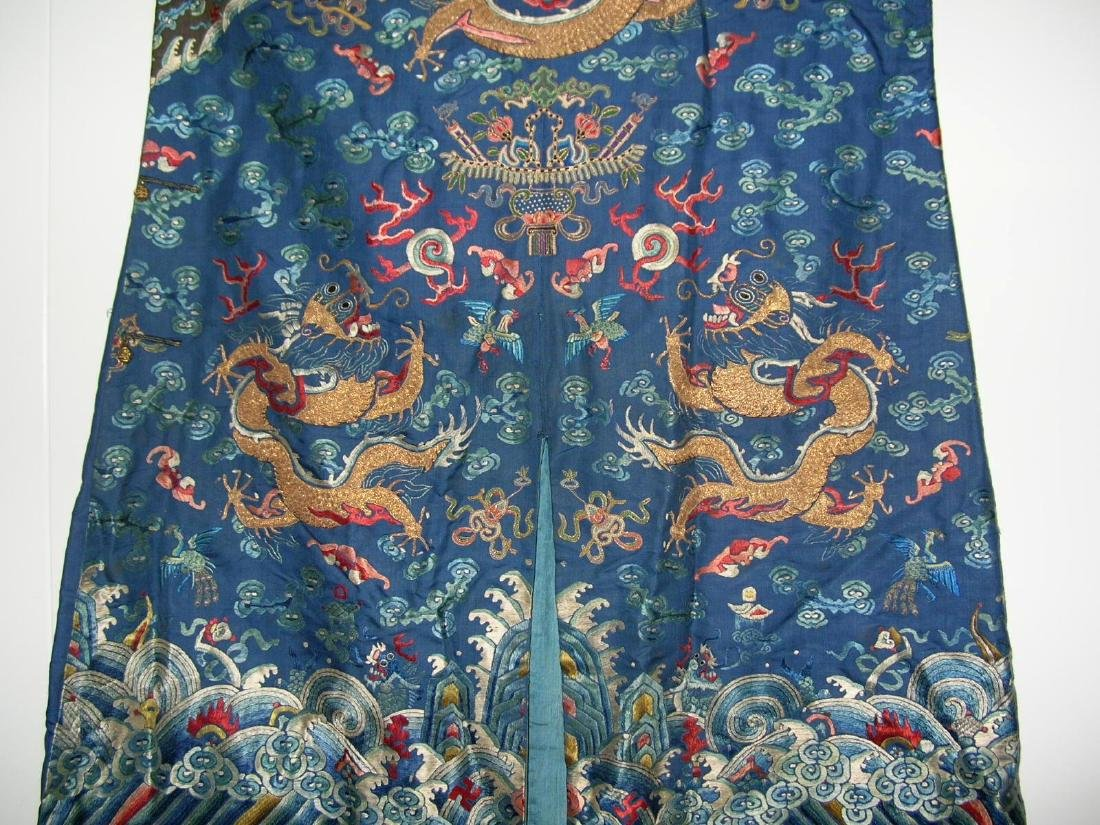 Unusual Antique Chinese Imperial Dragon Robe - 2