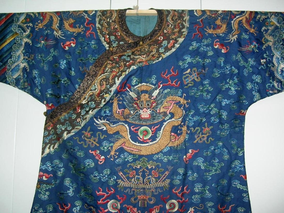 Unusual Antique Chinese Imperial Dragon Robe - 3