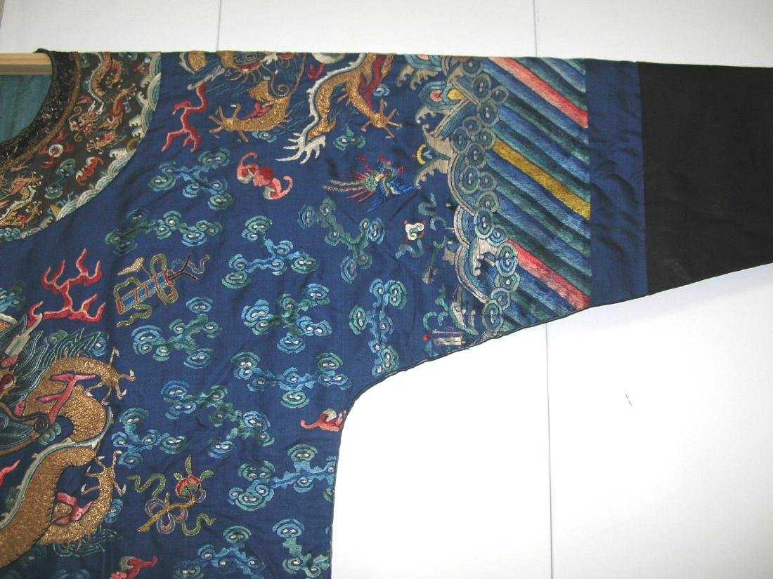 Unusual Antique Chinese Imperial Dragon Robe - 4