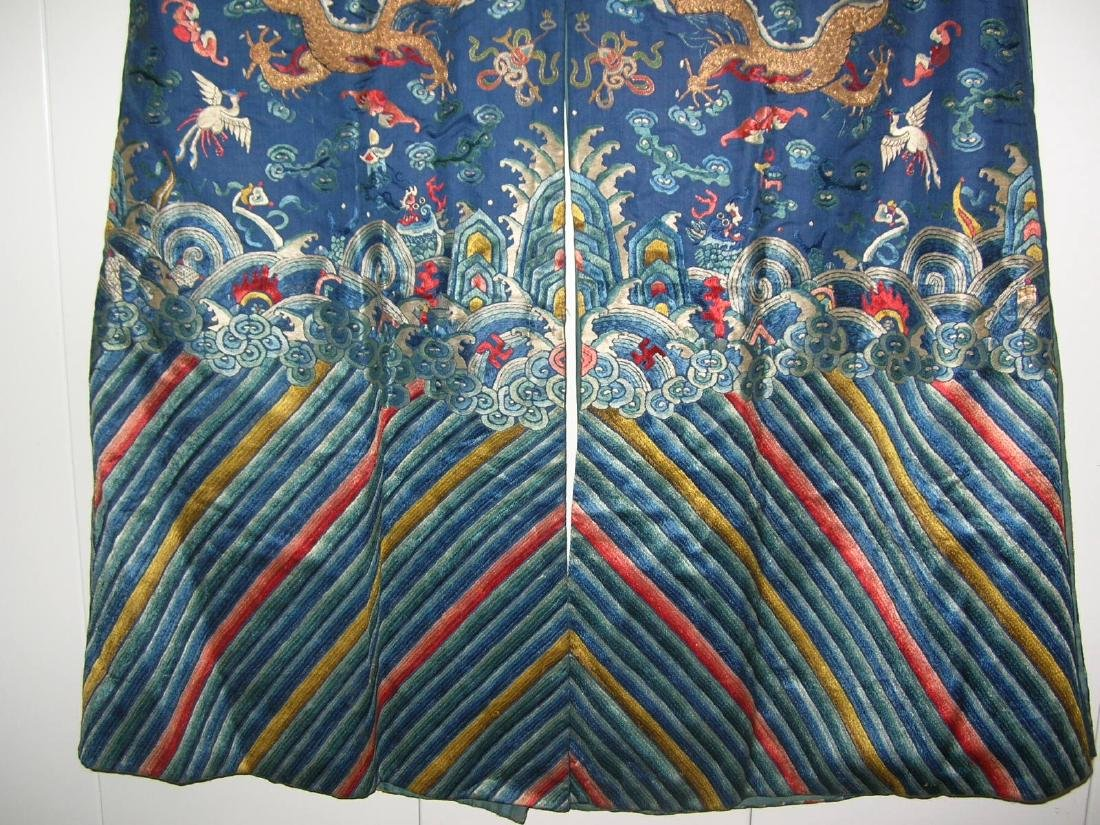 Unusual Antique Chinese Imperial Dragon Robe - 8