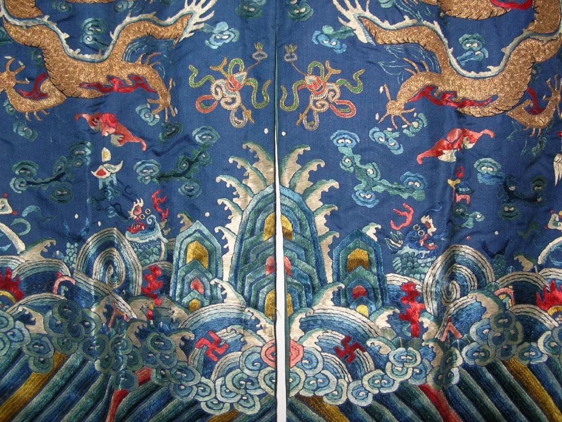Unusual Antique Chinese Imperial Dragon Robe - 9
