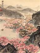 Watercolor Scroll Song Wenzhi