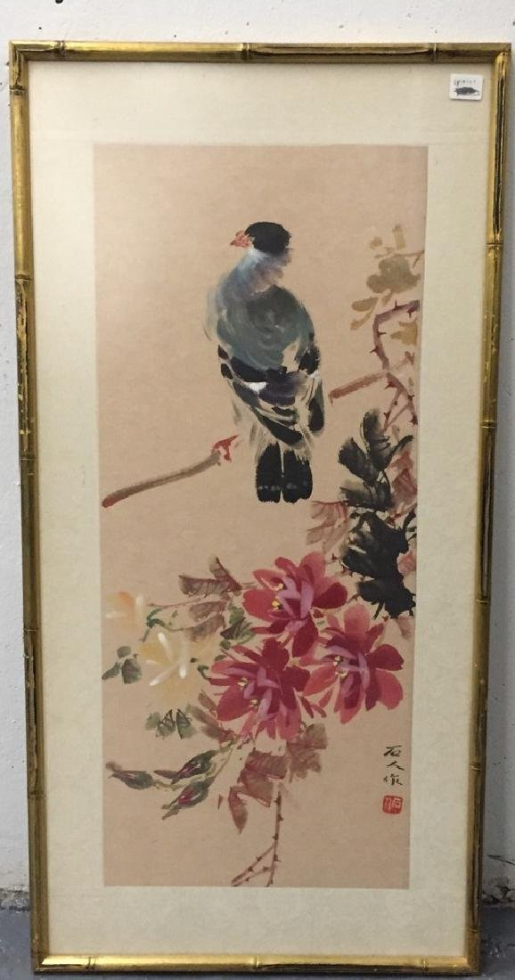 Two Vintage Chinese Watercolor Paintings Signed