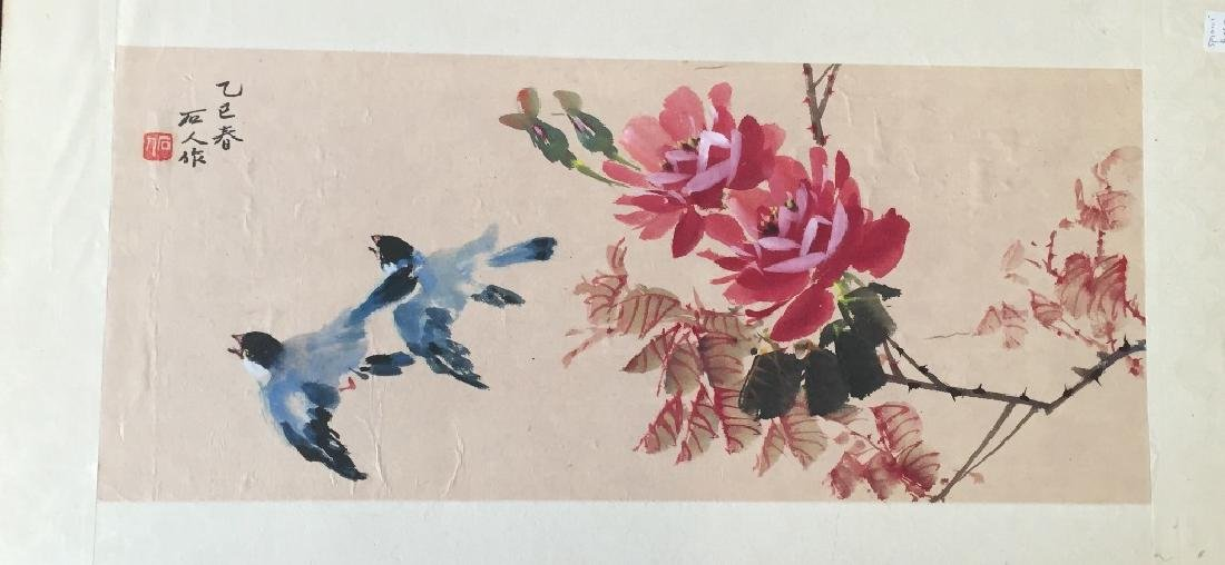 Two Vintage Chinese Watercolor Paintings Signed - 2