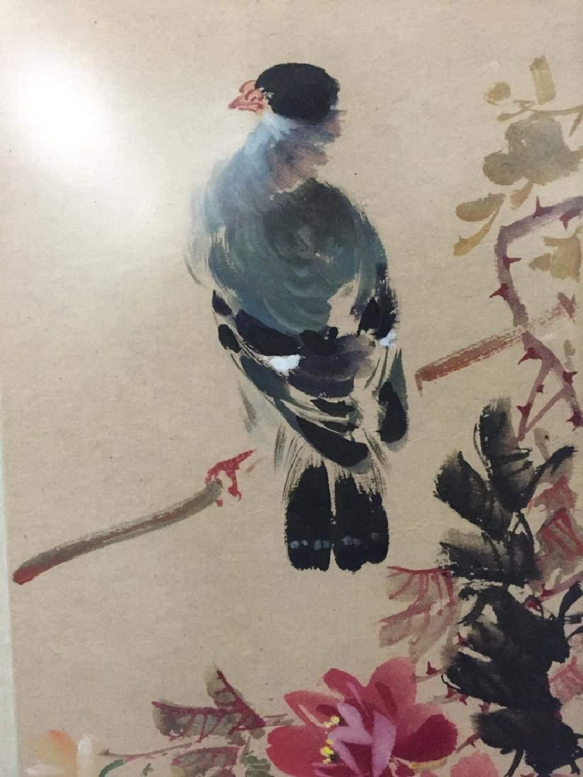 Two Vintage Chinese Watercolor Paintings Signed - 3