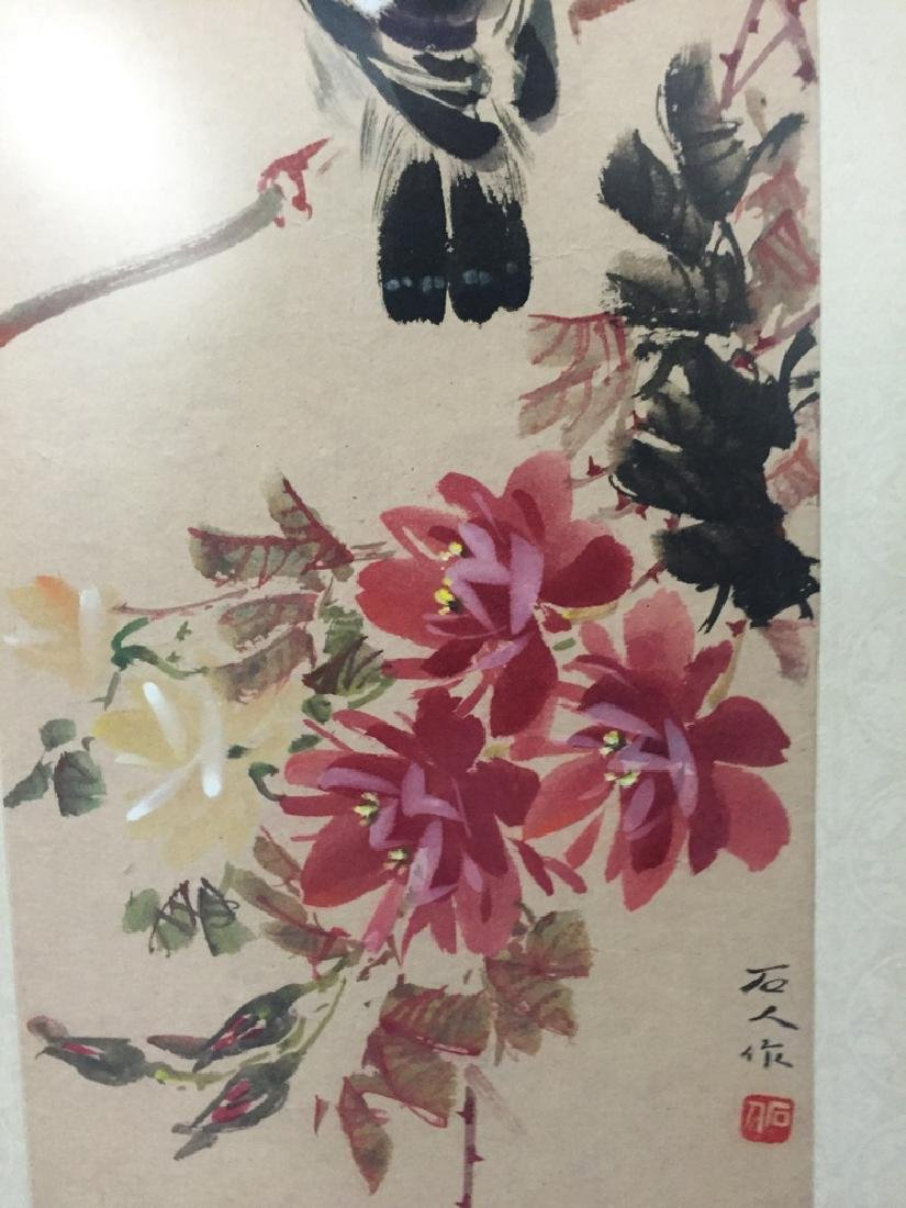 Two Vintage Chinese Watercolor Paintings Signed - 4