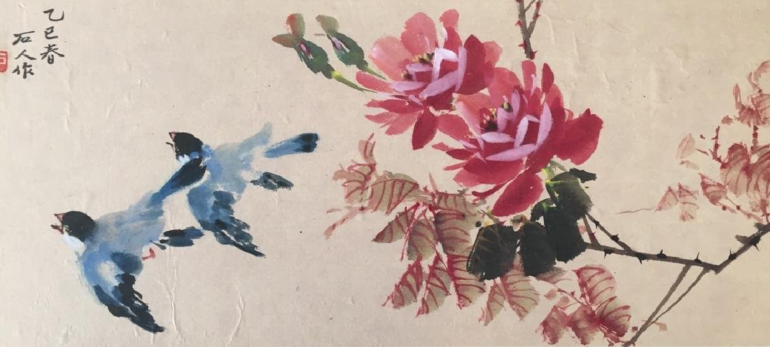 Two Vintage Chinese Watercolor Paintings Signed - 5