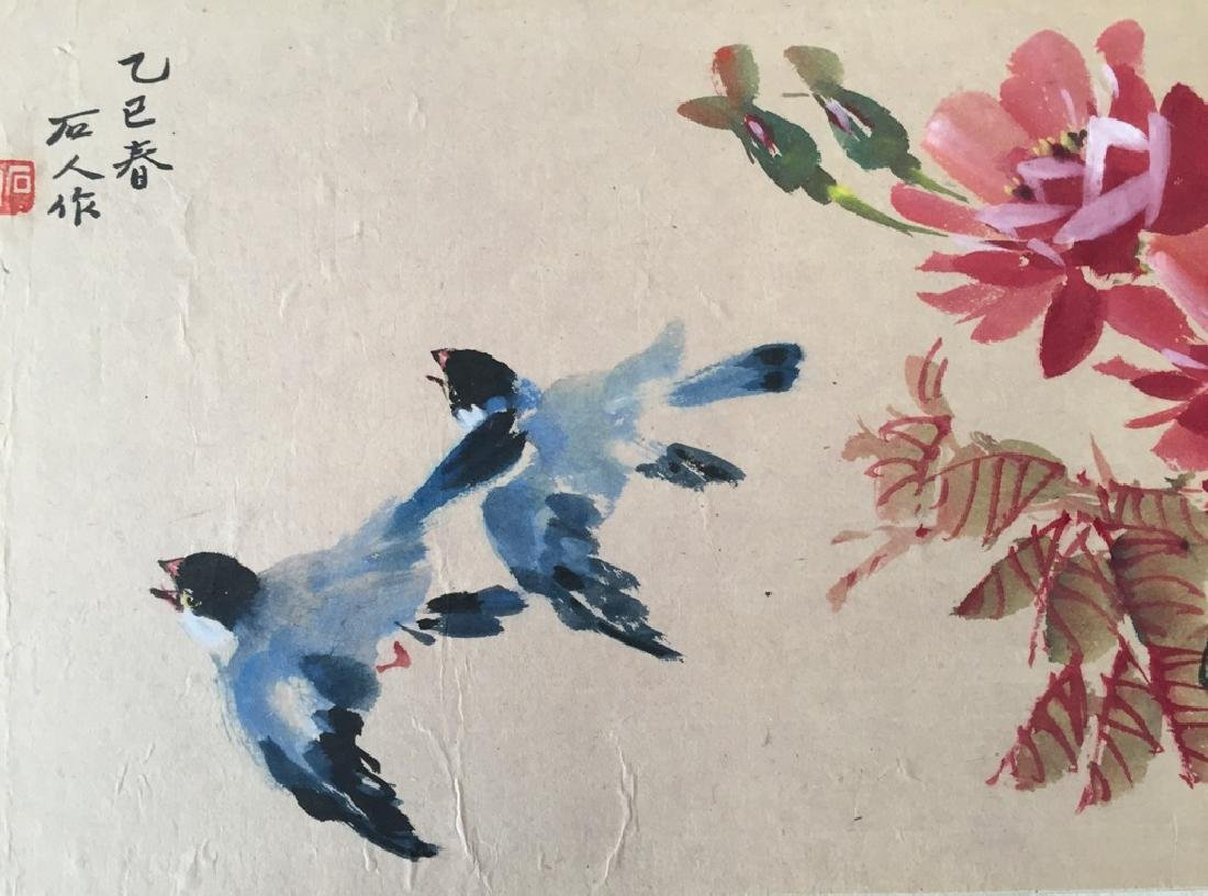 Two Vintage Chinese Watercolor Paintings Signed - 6