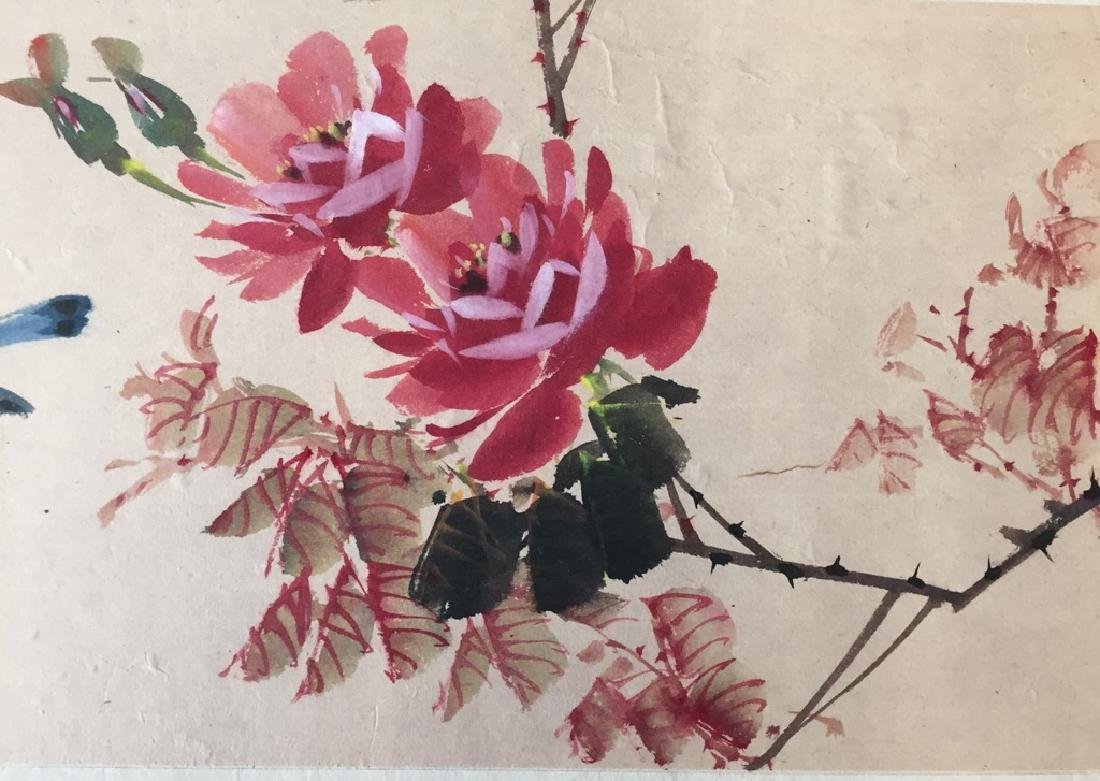 Two Vintage Chinese Watercolor Paintings Signed - 7