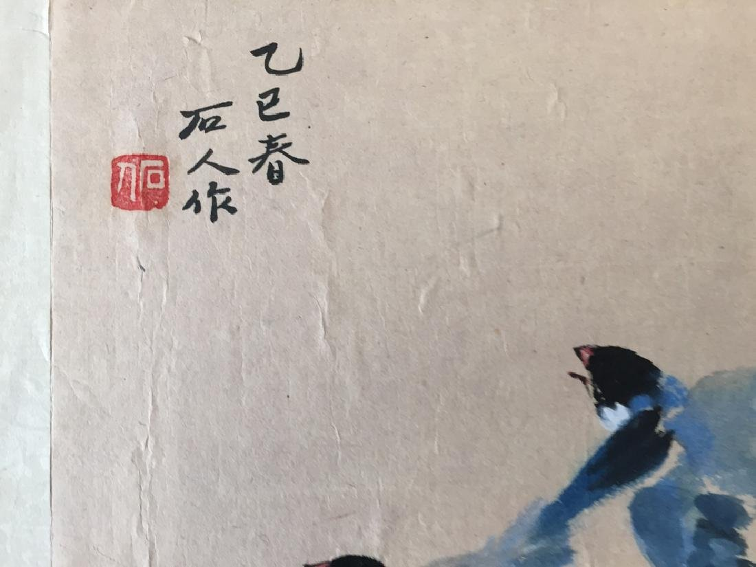 Two Vintage Chinese Watercolor Paintings Signed - 8