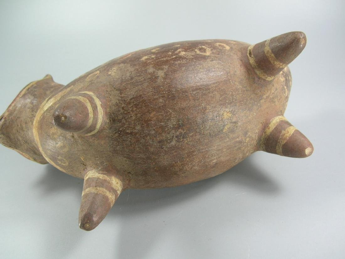 Pre-Columbian Painted Pottery Dog-Like Animal - 8