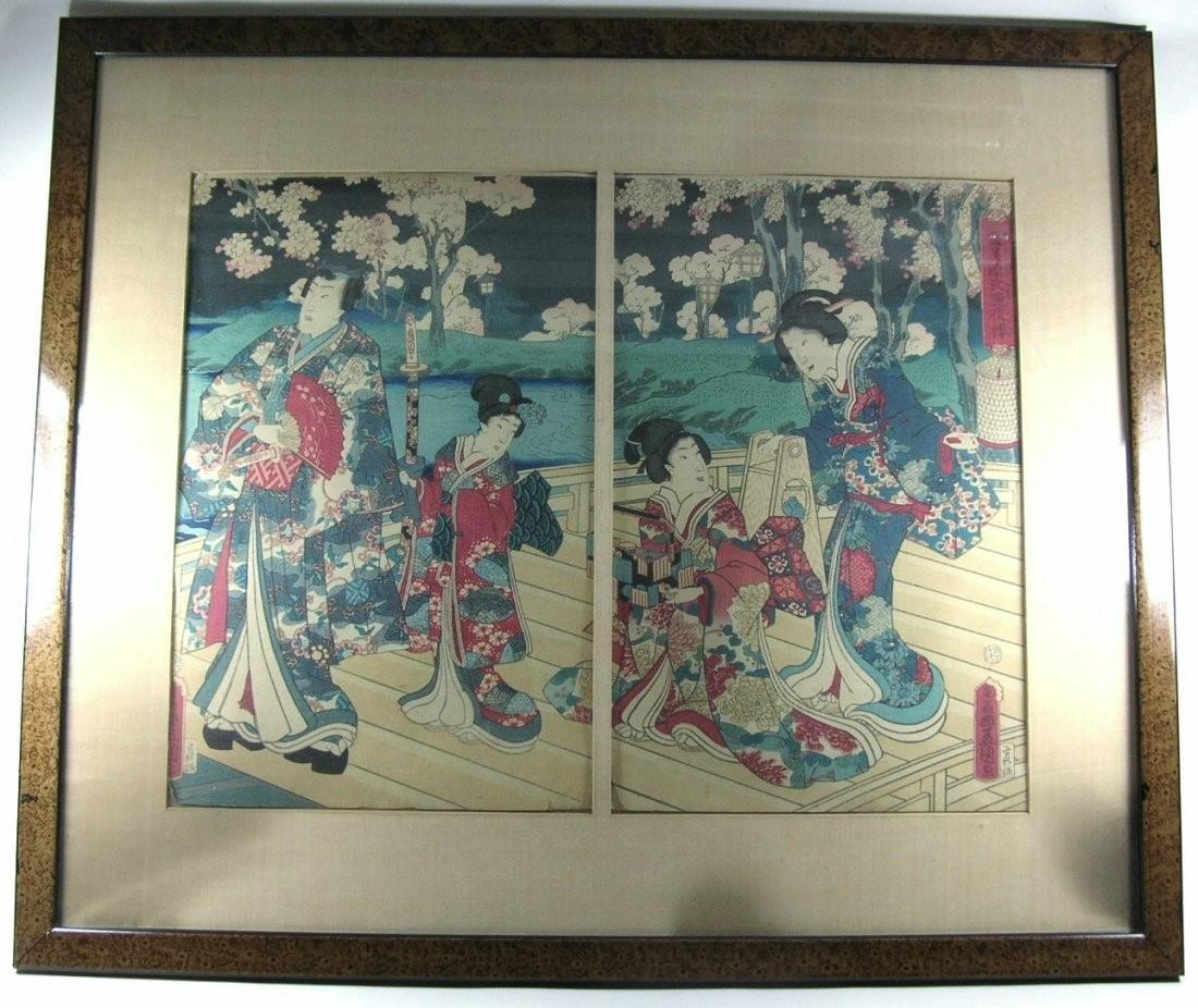 Antique Japanese Woodblock Print by Toyokuni III - 2