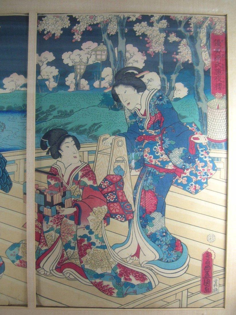 Antique Japanese Woodblock Print by Toyokuni III - 3