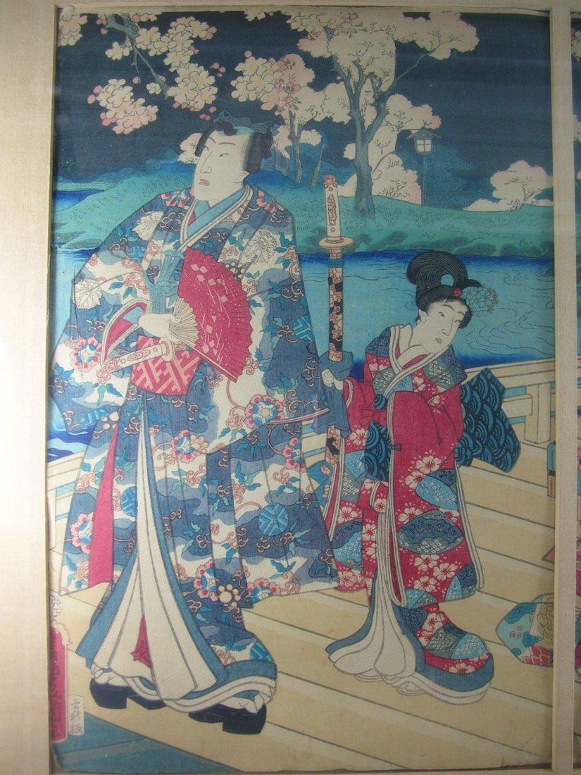 Antique Japanese Woodblock Print by Toyokuni III - 4