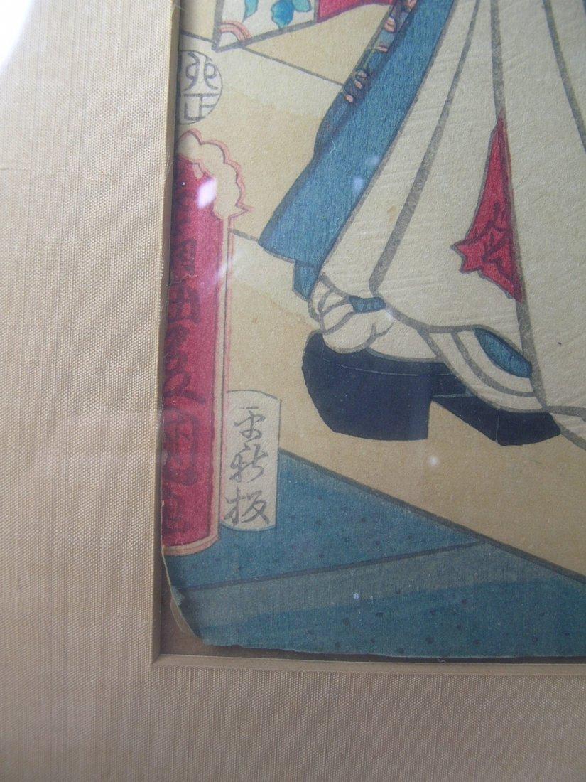 Antique Japanese Woodblock Print by Toyokuni III - 5