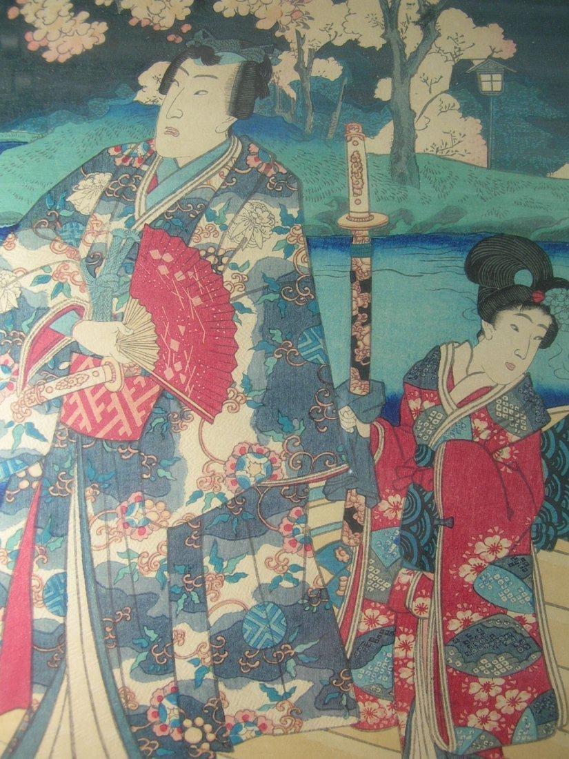 Antique Japanese Woodblock Print by Toyokuni III - 8