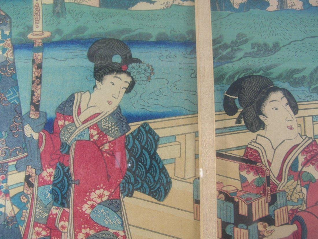 Antique Japanese Woodblock Print by Toyokuni III - 9