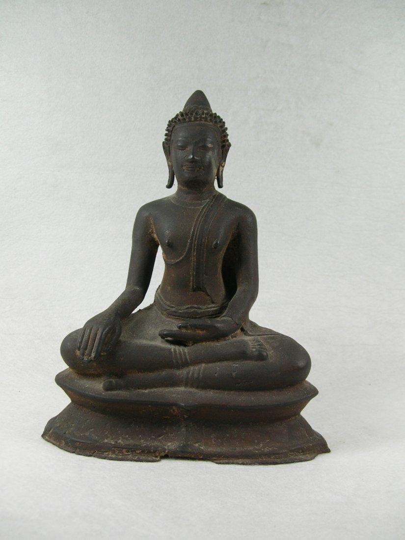 Bronze Statue of Seated Buddha