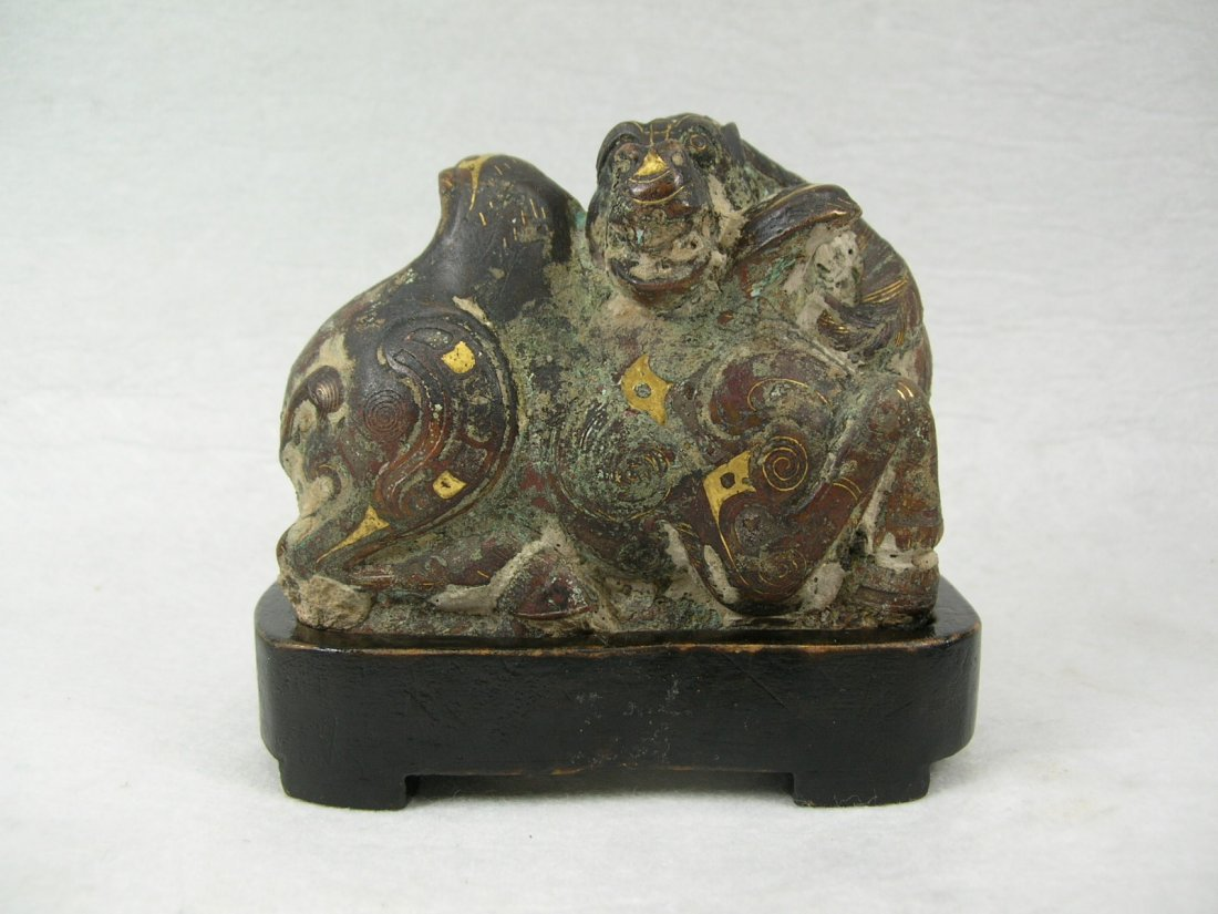 Rare Bronze Camel Mat Weight Warring States Period