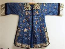 Antique Chinese Female Embroidery Silk Robe