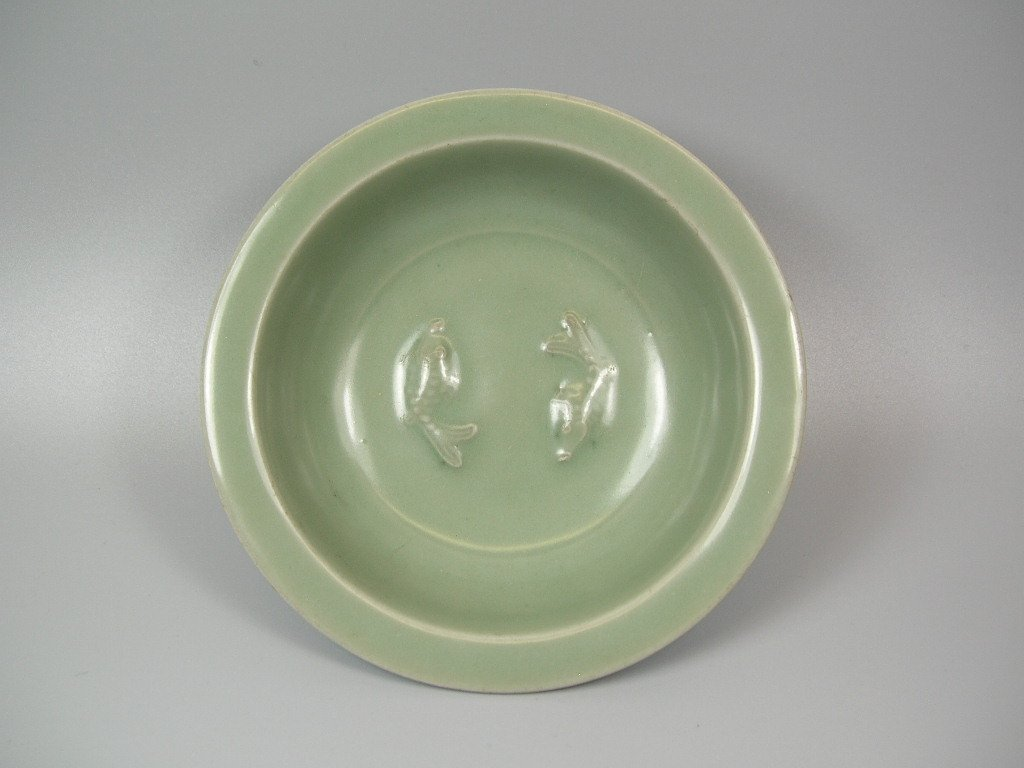 Very Fine Longquan Celadon Twin-Fish Dish Song Dy
