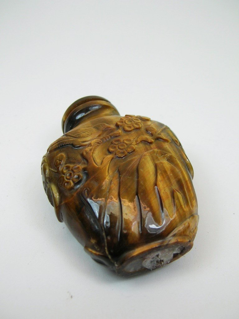 Finely Carved Tiger-Eye Snuff Bottle Qing Dynasty - 5