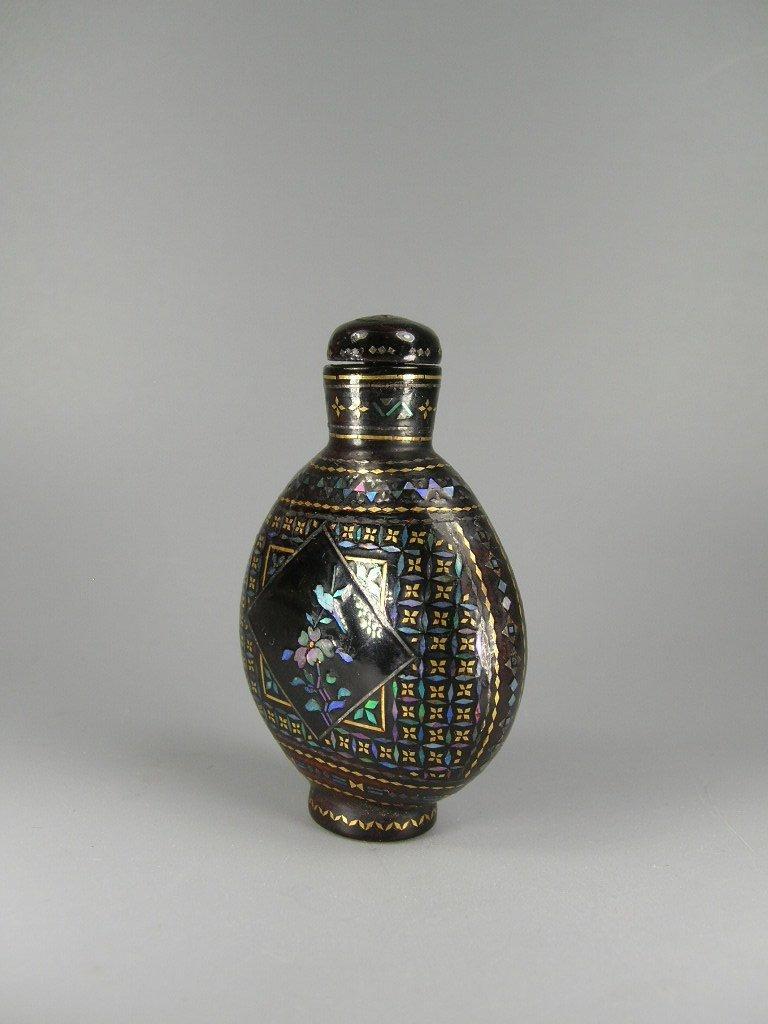 Fine Japanese Lac Burgaute Snuff Bottle 19th Century - 2