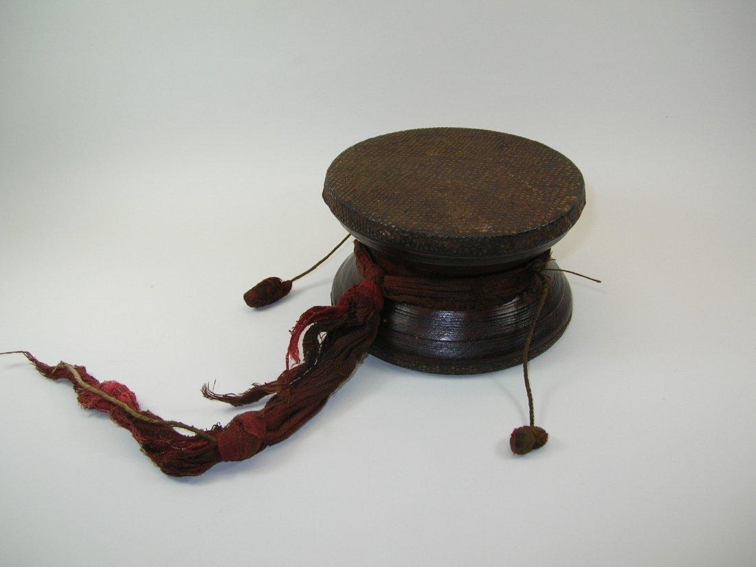 Antique Tibetan Hand Drum