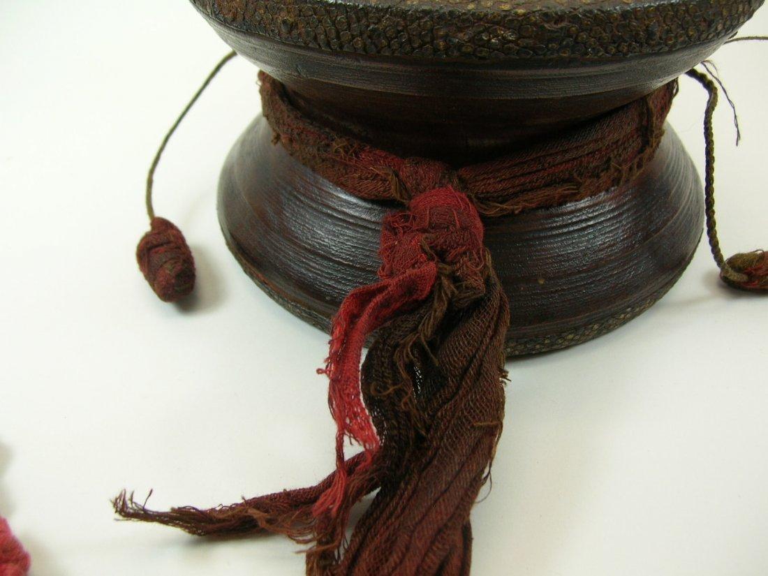 Antique Tibetan Hand Drum - 3